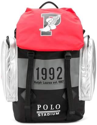 Polo Ralph Lauren colour-block backpack
