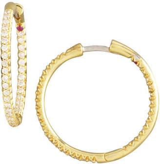 Roberto Coin Pave Diamond Hoop Earrings