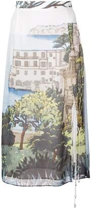 Altuzarra printed midi skirt