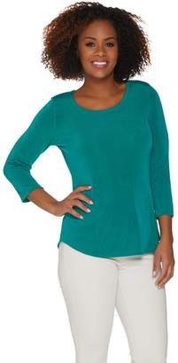 Women With Control Attitudes by Renee Radiant Knit 3/4 Sleeve T-Shirt