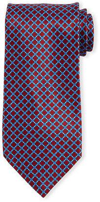 Stefano Ricci Neat Square-Print Silk Tie $275 thestylecure.com