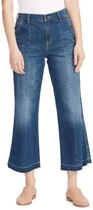 Ella Moss Cropped Wide-Leg Jeans