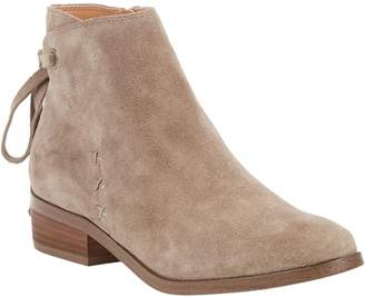 Sole Society Tie Back Leather Ankle Boots - Lacklan