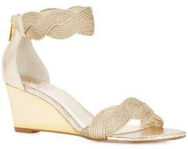 Adrianna Papell Adelaide Metallic Wedge Sandals