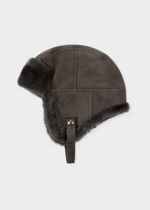 Paul Smith Men's Grey Sheepskin Chapka Hat