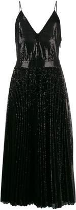 MSGM sequin pleated maxi dress