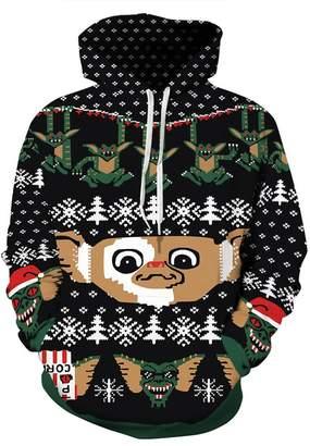 Hunter Little Unisex 3D Print Pullovers Hoodies Christmas Hooded Pocket Sweatshirt for Women (L/XL, )