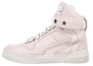 Givenchy Leather High-Top Sneakers