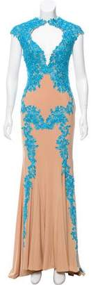 Jovani Lace-Accented Evening Dress w/ Tags