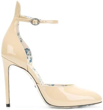 Gucci high-heel leather pumps