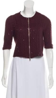 Brunello Cucinelli Cropped Cashmere-Blend Cardigan Cropped Cashmere-Blend Cardigan