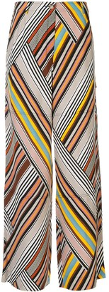 Tory Burch mixed stripe trousers