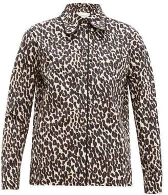 La DoubleJ Rodeo Leopard Print Cotton Poplin Shirt - Womens - Leopard