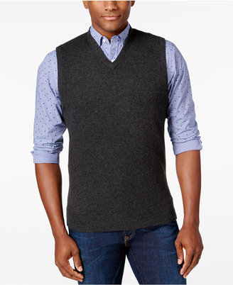Men's Cashmere Sweater Vest, Only At Macy's