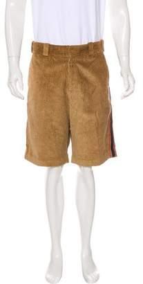Dolce & Gabbana Pleated Striped Shorts