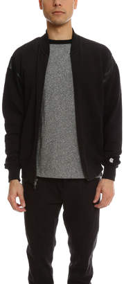 Todd Snyder Faux Leather Cut Out Zip Bomber