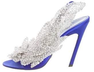 Balenciaga Satin Slingback Sandals silver Satin Slingback Sandals