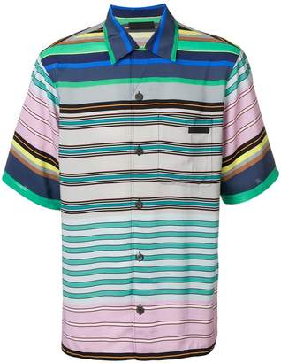 Prada striped button shirt