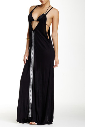 Letarte Long V-Neck Dress $270 thestylecure.com