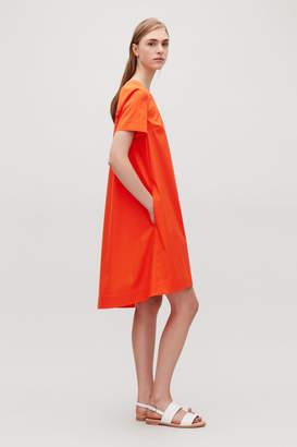 Cos TIE-DETAILED A-LINE DRESS