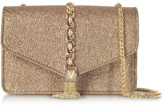 Mario Valentino Valentino by Eco Crackled Metallic Leather Burlesque Small Shoulder Bag