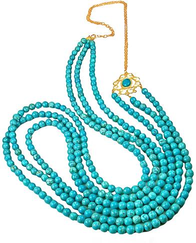 K. Amato Layered Turquoise Necklace