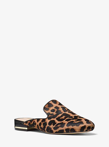 Michael Kors Natasha Leopard Calf Hair Slide
