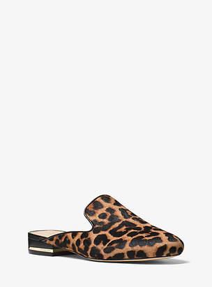 Michael Kors Natasha Leopard Calf Hair Slide $130 thestylecure.com