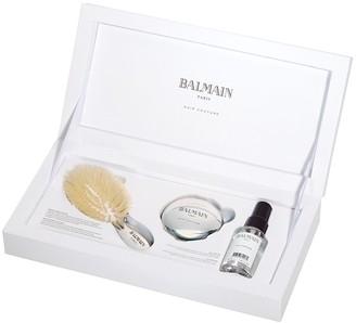 Couture Balmain Paris Hair Silver Spa Brush Mini Hair Care Set