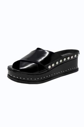 Jeffrey Campbell Black Studded Slide