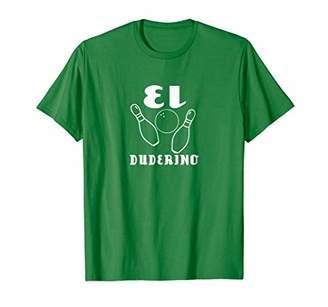 Mens El Duderino T-shirt - The Dude Tee Shirt - Green Tshirt