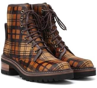See by Chloe Liegi calf hair ankle boots