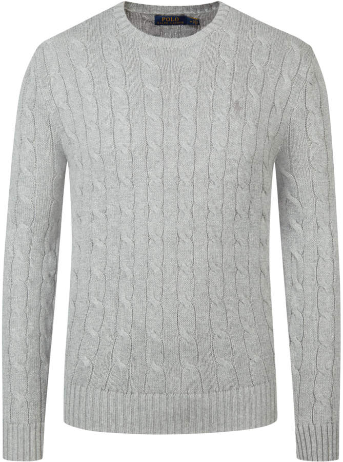 O-Neck Pullover mit Zopfmuster