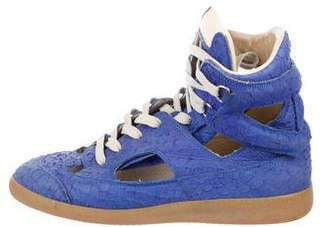 Maison Margiela Cutout High-Top Sneakers
