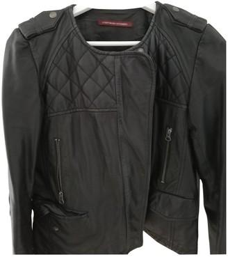 Comptoir des Cotonniers Black Leather Leather Jacket for Women