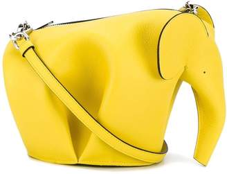 Loewe elephant mini crossbody bag yellow