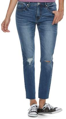 UNIONBAY Juniors' Zadie Ripped Skinny Ankle Jeans