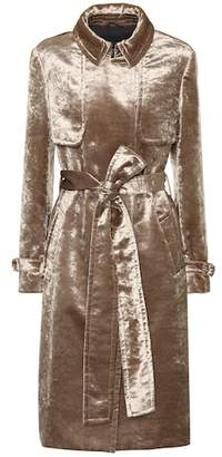Brunello Cucinelli Velvet trench coat