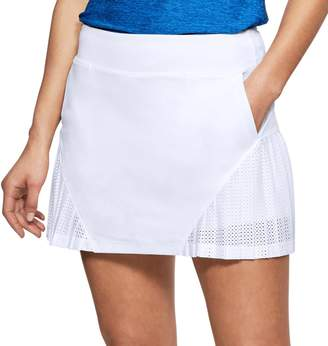 Under Armour Women's Links Knit Mesh Mid-Rise Golf Skort