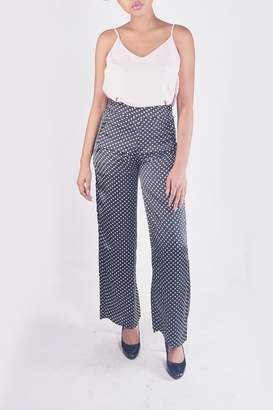 Honey Punch Polk-Dot Trouser Pants