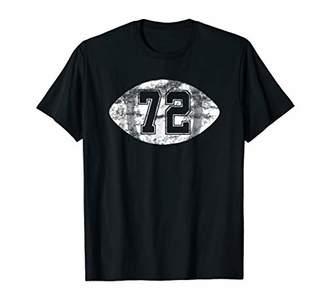 Number 72 Football T-Shirt Vintage Jersey Player Mom Dad