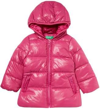 Benetton Girls Padded Hooded Jacket