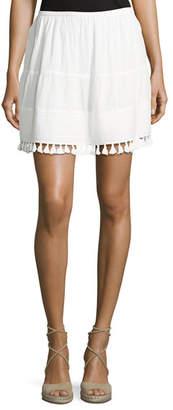 The Great The Park Tassel-Trim Skirt, White