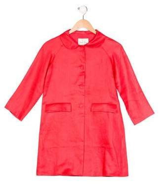 Rachel Riley Girls' Collared Swing Coat
