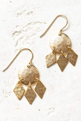 A.V. Max Hammered Mini Shield Earrings