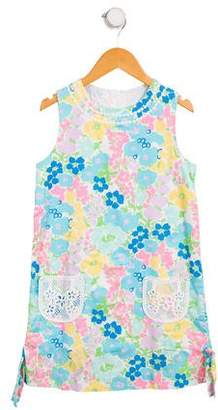 Lilly Pulitzer Girls' Floral A-Line Dress