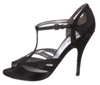 Miu Miu Satin Peep-Toe Sandals