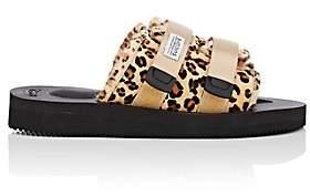Suicoke Women's Shearling-Lined Fur Slide Sandals - Brown
