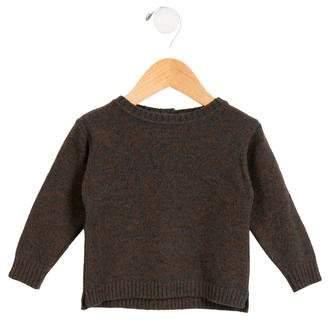Caramel Baby & Child Girls' Wool Crew Neck Sweater