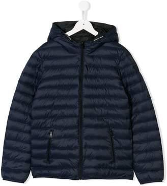 Emporio Armani Kids TEEN hooded padded jacket
